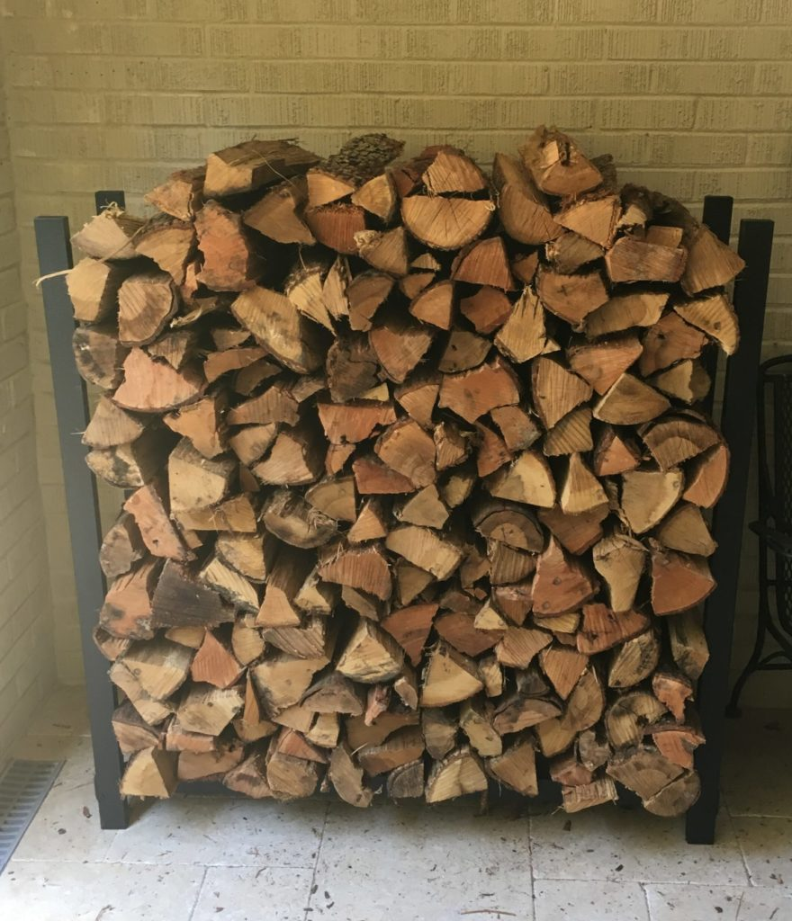4ft stack of Charlotte Firewood delivery - CLT Firewood
